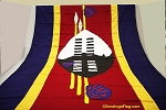 SWAZILAND- 6x9ft Flag WOOL Vintage