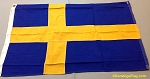 SWEDEN- 2x3ft Flag Cotton Vintage