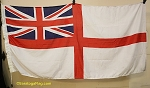 UNITED KINGDOM-British White Ensign- 5x9FT- Used VINTAGE