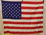 50 Star USA Flag- 4x5.5ft Nylon- Authentic - Vintage - SOLD