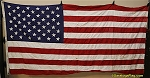 50 Star USA Flag- 5x9.5ft COTTON- used - Vintage