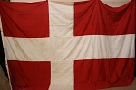 DENMARK FLAG- 8x12ft Cotton - Used Vintage-SOLD