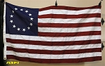 13 Star USA Flag- 3x5ft- Betsy Ross- Authentic - Vintage