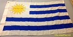 URUGUAY- 3x4ft Applique Wool Flag Vintage