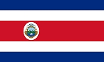 COSTA RICA with Seal FLAG