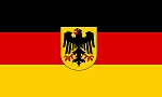 GERMANY with Eagle Seal FLAG