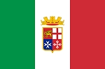 ITALY- ITALIAN NAVAL ENSIGN with seal FLAG