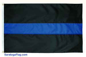 POLICE: Thin BLUE LINE Support Flag