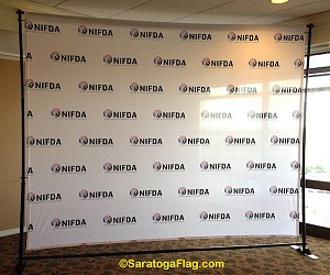 ..Custom BACKDROP BANNER KIT: 8ft x 10ft Fabric