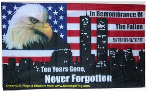 Sept 11th Tenth Anniversary Flag