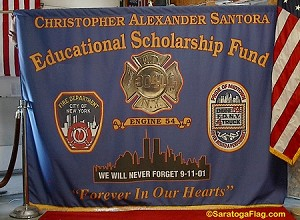 .Custom FIRE DEPT BACKDROP BANNER: 6ft x 8ft Fabric