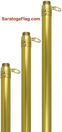 FLAGPOLE- Aluminum - Adjustable Parade Pole