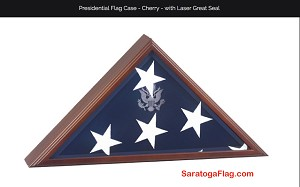 Display Case- Presidential Flag Case