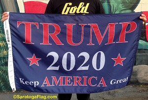 ...TRUMP- 2020 Keep America Great- Nylon Flags -Made in USA