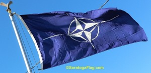 NATO- 6x8ft Flag WOOL Vintage