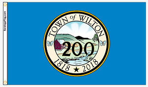 Town Of Wilton - Bicentennial Flag- Limited Edition