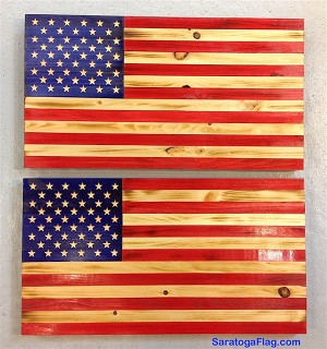WOOD USA FLAG