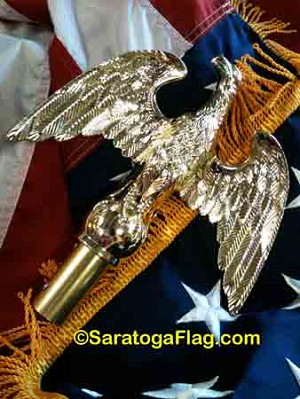 FINIAL: Eagle Ornament - Metal- for Indoor Poles