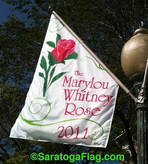 .MARYLOU WHITNEY ROSE BANNERS- 5FT x 3FT Angle-Top
