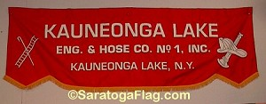 .KAUNEONGA LAKE FIRE DEPT- PARADE BANNER