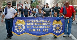 .IBT TEAMSTERS UNION- Custom EMBROIDERED PARADE BANNER
