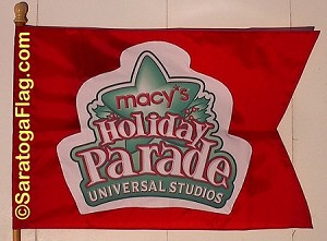 .MACYS HOLIDAY PARADE FLAG- Applique Stitched Nylon