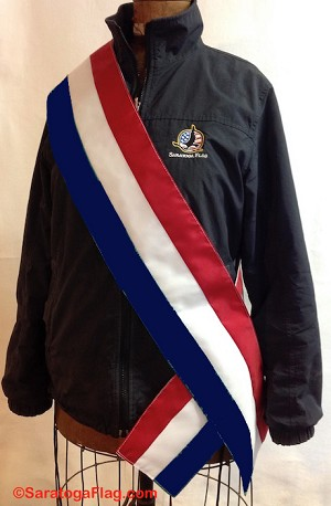 ..PARADE SASH- USA - Tri-color Red-White-Blue