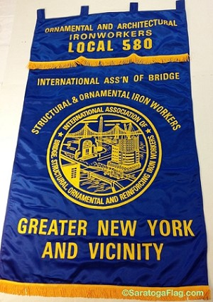 .IRON WORKERS UNION- Custom EMBROIDERED BANNER