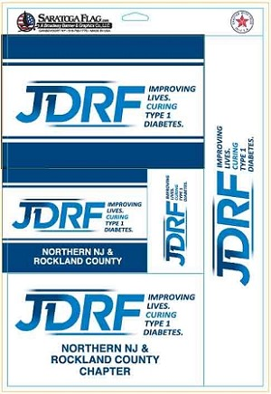 .JDRF 11x17 inch SHEET - 5 stickers -Custom decals
