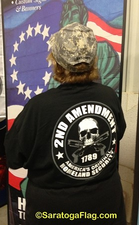 T-SHIRT: Second Amendment (Screen Printed on 2 sides)