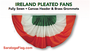 Bunting-Pleated Fan- Ireland 3ft x 6ft -Nylon
