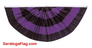 Mourning Bunting- Pleated Fan