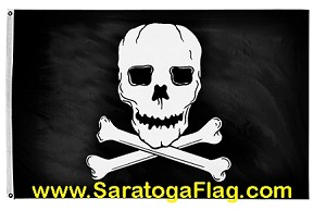 Flag: jolly roger pirate deluxe applique stitched