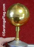 FINIAL: Ball Top Ornament-  for Outdoor Poles