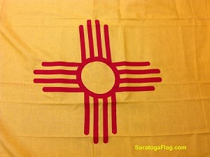 NEW MEXICO STATE FLAG- 3x5ft Cotton Vintage- SOLD
