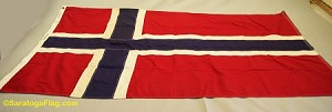 NORWAY FLAG- 3x5ft Cotton - Vintage-SOLD