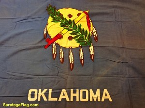 OKLAHOMA STATE FLAG- 3x5ft Cotton -Used Vintage-SOLD