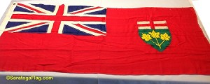 ONTARIO CANADA- 3x6ft Wool Flag - Used Vintage- SOLD
