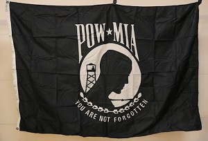 POW-MIA FLAG- 4x5ft- VINTAGE