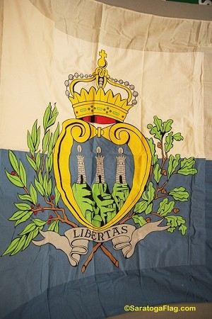 SAN MARINO (with seal) - 6x9ft Flag WOOL Vintage-SOLD