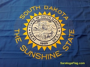 SOUTH DAKOTA Sunshine STATE FLAG- Historical 3x5ft Polyester Vintage-SOLD