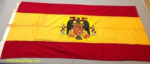 SPAIN with Seal- 3x5ft Cotton Flag - Used Vintage- SOLD