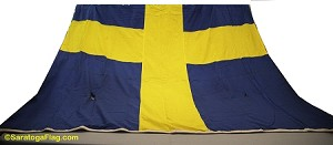 SWEDEN FLAG- 8x12ft Cotton - Used Vintage