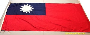 TAIWAN- 3x6ft Wool Flag - Used Vintage