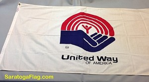 UNITED WAY Flag- 3x5ft Cotton Vintage- SOLD