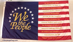 We The People- United States Constitution Flag - Preamble