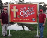 .Keep Christ in Christmas Vinyl Banner - 4x6ft