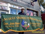 ...Custom PARADE BANNER- Ancient Order of Hibernians- PRINTED NYLON