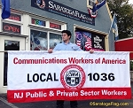 .Communication Workers of America- PARADE BANNER- Applique Stitched Nylon