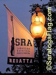 .SARATOGA ROWING ASSOCIATION- NYLON BANNERS- 6FT x 3FT Angle-Top -Single-ply